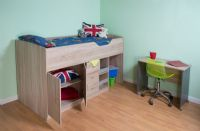 Midi Cabin bed, with Colour options, ideal children; safe  bed.  Wolf